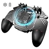 Ozkak Mobile Game Controller Handy Gamepad mit Lüfter, Gamecontroller 6 Finger L1R1 Universel für...