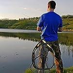 PLUSINNO Floating Fishing Net for Steelhead, Salmon, Fly, Kayak, Bass, Trout Fishing, Catfish, Rubber Coated Landing Net…