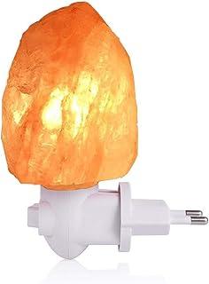 LEDGLE Lámpara de Sal de 10W Himalaya Luz de Sal con Enchufe de Pared, Sal Natural 220V, Bombilla Incandescente incorporada