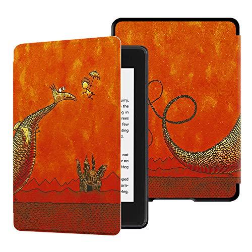 HUASIRU Pintura Caso Funda para Kindle Paperwhite (10.ª generación - Modelo de 2018) [Nunca agrietarse], Continuar