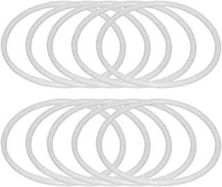 Healifty 30Pcs Dreamcatcher Rings Plastic Rings Hoops Macrame Rings Hoops For Diy Craft Dream Catcher Supplies (6Cm)