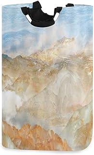 COFEIYISI Grand Organiser Paniers pour Vêtements Stockage,Marbre Rolling Hills Cloud Sky Agate,Pliable Sac à Linge,Pliage ...