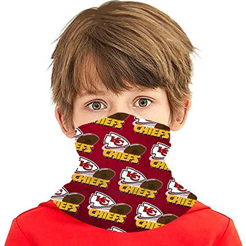 Ka-Ns-As C-Ity Ch-Iefs Boys Bandanas for Dust Girls Neck Gaiter Kids Face Cover Magical Multi Funtion Uv Protection Seamless Scarf Reusable Half Face Protective Funtion Balaclava