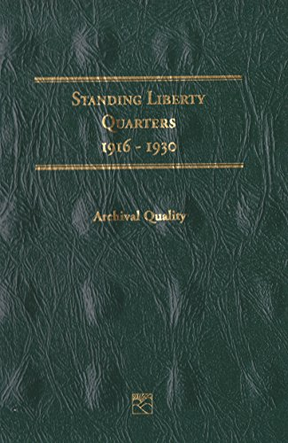 1916-1930 STANDING LIBERTY QUARTERS LITTLETON LCF16 COIN; ALBUM, BINDER, BOARD, BOOK, CARD, COLLECTION, FOLDER, HOLDER…