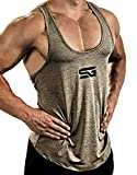 Satire Gym - Fitness Stringer Tank Top Herren/Schnell trocknende & Funktionelle Sportbekleidung für...