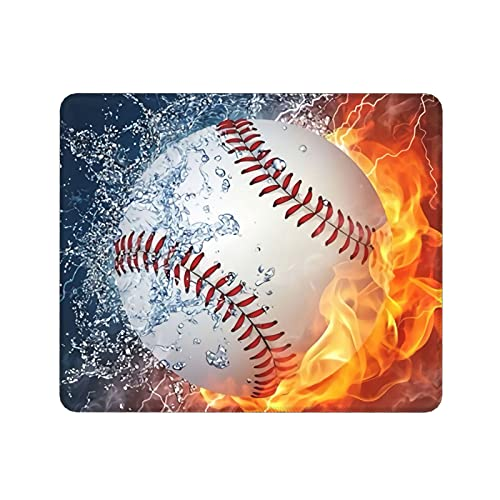 Rectangle Mouse Pad Baseball Desk Rubber Gaming Mat for Gaming Working