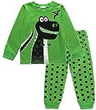 EULLA Schlafanzug Jungen Zweiteiliger Baumwolle Kinder Nachtwäsche 1-dinosaurier 104