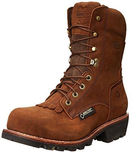 """Wolverine Chesapeake Waterproof Steel-Toe 8"""" Logger Work Boot Men 10.5 Brown"""