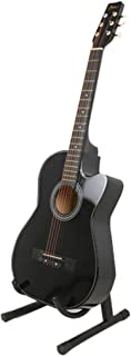 38 Inch Wooden Folk Acoustic Guitar Classical String Capo Stand Tuner Bag Black