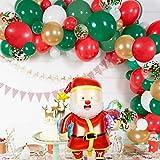Globos de cumpleaños, globos de látex de Navidad Set de globos de cumpleaños para niñas y mujeres, suministros de fiesta de cumpleaños, película de aluminio y papel