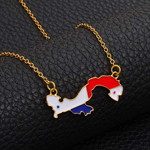 Panama Map With Gift Free For Women Girls Gold Color Country Map Ornament Jewelry