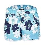 Pantalones Cortos de Verano para Mujer Cintura elástica Informal Cordón elástico Cinturón Bolsillo Pantalones Cortos de Playa con Estampado Floral Personalizado