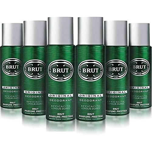 BRUT Original Body Spray Deo Bundle 6 x 200ml
