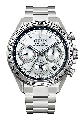 [CITIZEN] 腕時計 アテッサ ACT Line アクトライン GPS衛星電波時計 CC4010-80A メンズ シルバー