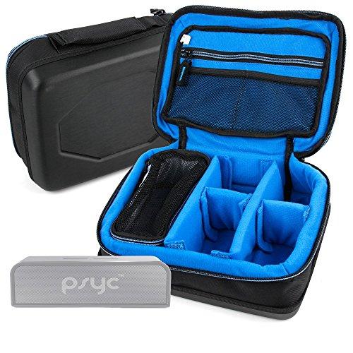 DURAGADGET Bolsa Acolchada Profesional Negra con Compartimentos para Altavoz Portátil iQualTech XP...