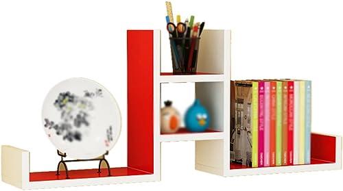Bücherregal CHUANLAN Wohnzimmer Büro Wandbehang Separator Regale Dekorrahmen Eine Vielzahl von Farben zur Auswahl (Farbe   Weiß+rot)