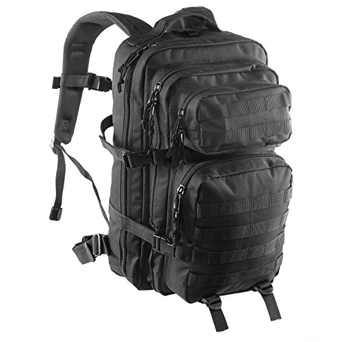 Yovanpur Multifunction Military Tactical Backpack,36L Large Army Assault Pack Molle Bug Out Bag Backpacks Rucksack Daypack for Camping Hiking and Trekking (Black)