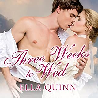 Three Weeks to Wed audiobook cover art