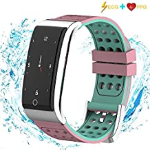 I-SWIM Iswim Fitness Tracker, ECG&PPG Heart Rate Monitor Watch Color Screen, IP67 Waterproof, Step Counter, Calorie Counter, Sleep Monitor, Pedometer, Smart Watch Kids Women Men