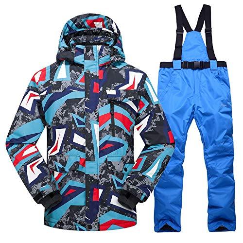 Ropa de esquí Nueva caliente de esquí juego de los hombres de invierno nuevo al aire libre a prueba de viento impermeables térmicos pantalones masculinos de nieve establece esquí y el snowboard chaque