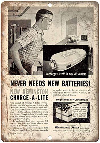 Remington Rand Plaque rétro en fer pour rasoir électrique