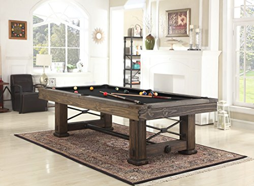 Lowest Prices! Playcraft Rio Grande 8' Slate Pool Table, Weathered Bark