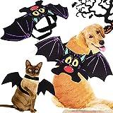 CoKu Disfraces de Halloween para Mascotas, Disfraz de Perro de Murciélago/Alas de Murciélago de Perro/Disfraz de Perro/Disfraces para Mascotas para Perros Medianos Grandes Decoración(XL)
