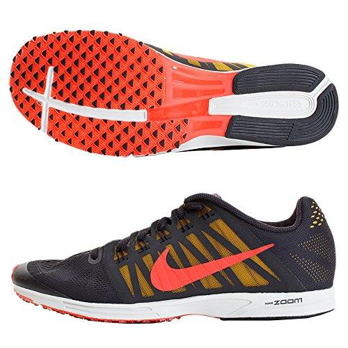 Nike Unisex-Erwachsene Air Zoom Speed Racer 6 Sneakers, Mehrfarbig (Oil Grey/Bright Crimson/Dark Citron 001), 42.5 EU