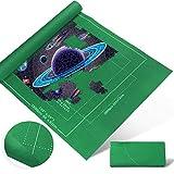 Zaloife Tapete Puzzle, Tapete para Enrollar Puzzles, Tapete para Puzzles 2000 Piezas, Puzzle Mat Verde,Estera de Rompecabezas Portátil, Puzzle Mat Roll