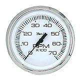 Faria 33817 Chesapeake Stainless Steel Tachometer (7000 RPM) - 4', White