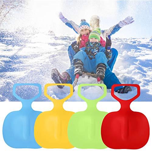 AIVUH Kinder Schneeflitzer Schneerutscher Kunststoff Gras Sand Rutscher Schnee Schlitten Rodel Plastik Bob mit Handgriff für Kinder Winter Ski Board Zubehör