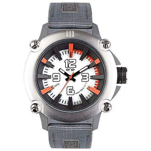 eNe Herren Analog Quarz Uhr mit Nylon Armband 640018118
