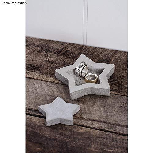 Rayher BP-ster betonnen schaal plus decoratie, SB-blisterbox, diverse grijs, 2,2 x 1,5 x 0,6 cm
