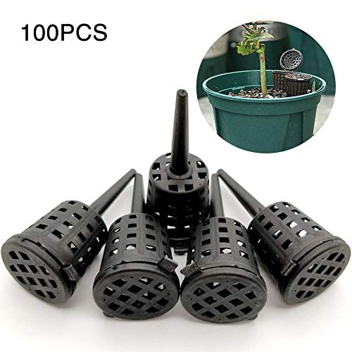 PURATEN Mand voor kunstmest, 100 delen / pakket draagbare aquarium kinderdagverblijf potten met deksel voor bonsai orchidee bloem kleine plant
