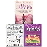 Harriet Lerner 3 Books Collection Set (Dance of Anger, Dance of Connection, Dance of Intimacy)