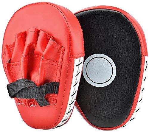 Queta 1 Paar PU Handpratzen Kickboxen Boxen, Pratzen Trainerpratzen vorgekrümmt Coaching für Muay Thai Karate Taekwondo Martial Arts usw