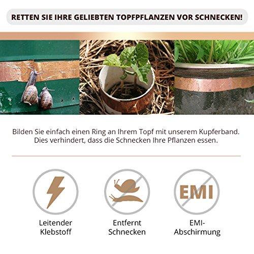 Kupferband 50mm x 20 m EMI Abschirmend gegen Schnecken...