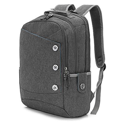KINGSLONG 15,6 Zoll Laptop Rucksack Damen Wasserdicht Freizeit Rucksack Mädchen, Studenten Rucksack geeignet für Herren und Damen Reiserucksack mit großer Kapazität (Grau b)