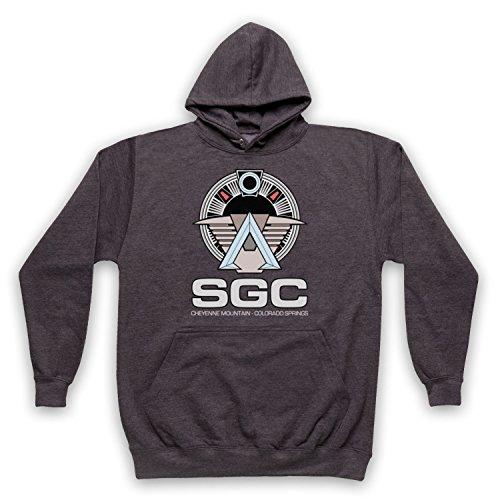 Death To Videodrome Star SGC Sci Fi Space TV Film Adulti Felpa con cappuccio Carbone XL