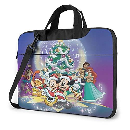 XCNGG M-Ickey Minnie Christmas Laptop Bag Tablet Maletín portátil Funda protectora Funda Messenger Bags 14 pulgadas