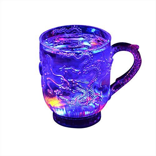 Automático LED parpadeante Copa Luz Dragón Cambio de Colores Vaso de Toma Jugo de Agua Tazas de Vino para el Partido en el Hogar Bar Bebida