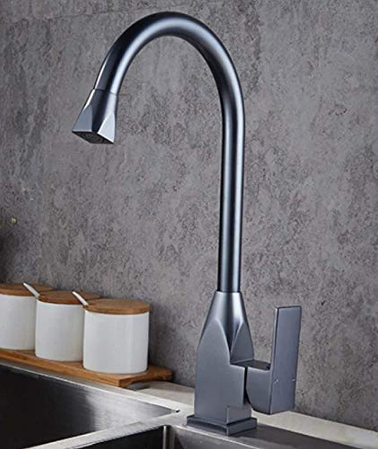 MONFS-Bathroom tap Taps Kitchen greenical Black Faucet Faucet Hot And Cold Double Control Sink Sink Mixer Taps