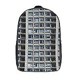 Mochila lavable para niñas y niños, unisex, cómoda y cómoda, 17 pulgadas, Arquitectura Collage Edificio Rascacielos (Blanco) - TB-ZXY-0wkz7hm59kov-1