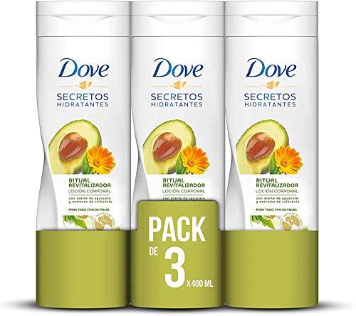 Dove Loción Aguacate - 3 Paquetes de 400 ml - Total: 1200 ml