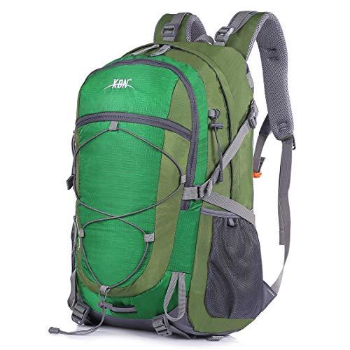 Mooedcoe 40L Mochila Senderismo Montaña Trekking Macutos de Viaje Acampada Marcha (Verde)