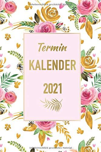 Terminkalender 2021: Taschenkalender 2021 - Arbeitskalender 2021 - Mit Kontaktliste - Geburtstagsliste - Ferien - Feiertagen