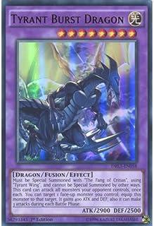 Deckboosters YuGiOh : DRL3-EN058 1st Ed Tyrant Burst Dragon Ultra Rare Card - ( Yu-Gi-Oh! Single Card)