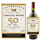 Personalised Wine/Champagne Bottle Label ~ Happy Birthday Gift Idea N158 Any Age 18th 21st 30th 40th 50th 60th
