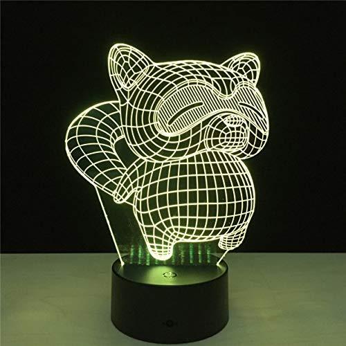 Jiushixw 3D driedimensionale kleur veranderende nachtlampje tafel met afstandsbediening eiken lamp met lade ballon liefhebbers huwelijksdag geschenk mooie liefde hartvorm cupid pijl SCHL