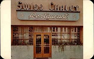 The Swiss Chalet Restaurant Colorado Springs, Colorado Original Vintage Postcard